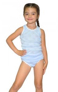 Детский комплект для девочки майка и трусы (трансфер однотонный)