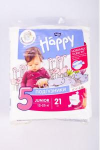 Подгузники Happy Junior №5 12-25 кг 21 шт