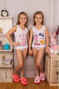 Комплект для девочек с фигурной резиной