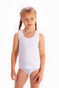 Майка и трусы для девочек с фигурной резиной