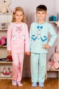 Пижама детская однотонная (интерлок)
