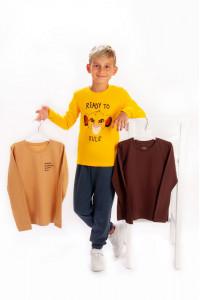 Комплект футболок с длинными рукавами для мальчиков