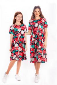 Платье для девочек в стиле Family look (подросток)
