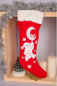 Сапожок для новогодних и рождественских подарков