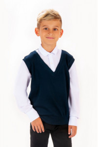 Рубашка с жилеткой обманка для мальчиков