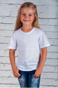 Детская трикотажная футболка белая