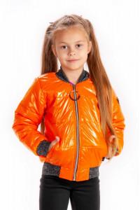 Демисезонная  куртка бомбер для девочек